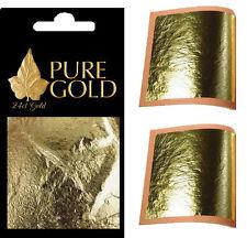10 packs en gros job lot 24CT feuille d'or 100% authentique scrap gold sheets