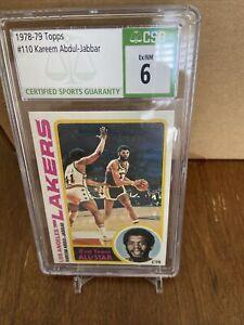 1978 Topps Basketball #110 KAREEM ABDUL JABBAR.......CSG 6