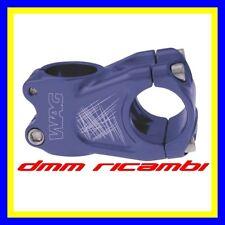 Attacco Manubrio Bici WAG 50 mm. 10° Stem 31,8 28,6/25,4 MTB ENDURO TRAIL DH BLU