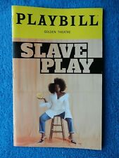 Slave Play - Golden Theatre Playbill - Opening Night - October 6th, 2019