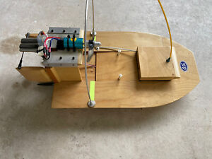 Electric RC Swamp Boat 52cm Long Brushless Futaba Servo
