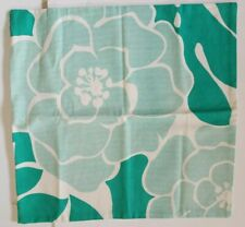 """Florence Broadhurst Square canvas Pillow Cover green Japanese flower 20"""" NWOT"""