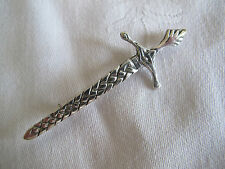 VINTAGE HALLMARKED SOLID SILVER 'SCOTLAND' CLAYMORE/SWORD BROOCH - 1956 (IONA?)