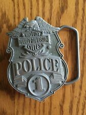 HARLEY-DAVIDSON Police 1 One Pewter? BELT BUCKLE, Made in U.S.A., New!