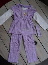 Pyjama 2 pièces tunique +pantalon parme imprimée Clochette DISNEY Taille 3-4 ans