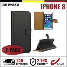 2IN1 Wallet Flip Case Cover Cas Coque Etui Portefeuill Hoesje Black For iPhone 8