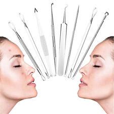 Jw_ Km_ 8Pcs/Set Blackhead Acne Pimple Blemish Remover Tweezers Clip Face Clea