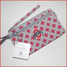 VERA BRADLEY Front Zip Wristlet THE OHIO STATE UNIVERSITY Red & Grey ~ NWT $48