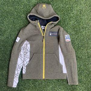 Spyder Fall 2019 US Ski Team Full Zip Jacket Olive Green Web Hoodie Small Medium