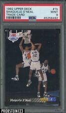 1992-93 Upper Deck #1b Shaquille O'Neal Orlando Magic RC Rookie HOF PSA 9 MINT