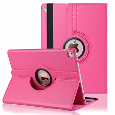 Rotating Stand Leather Smart Case Cover For Apple iPad Pro 9.7 inch Hot Pink