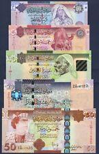 LIBYA FULL SET**1-5-10-20-50 DINARS**ND 2008/2011***UNC GEM***USA SELLER