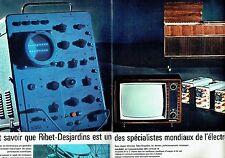 PUBLICITE ADVERTISING 037  1964   Téléviseur Ribet-Dejardins ( 2p)  spécialites