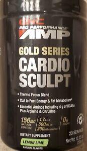 GNC Pro Performance AMP Gold Series Cardio Sculpt LemonLime 10oz BEST BY 5/28/21