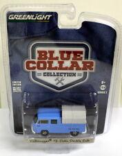 Greenlight 1/64 Scale Blue Collar Volkswagen T2 Doka Crew Cab Diecast model car