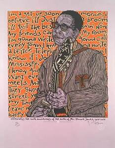 Elmore James Poster Celebrating 100 years Since His Birth S/N 100 Gary Houston