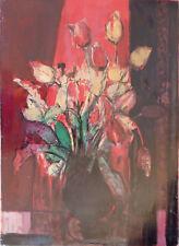 Raoul PRADIER (1929-2017) Gouache 1958 Tulipes Nle Ecole de Paris Jeune Peinture