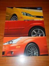 """Lot of 2 2004 Ford SVT Focus Dealer Brochure Cards 8.5"""" x 11"""" - New"""