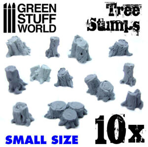 Small Tree Stumps - Resin, Dioramas, Modeling, Wargames, Forests, Woods, Elves