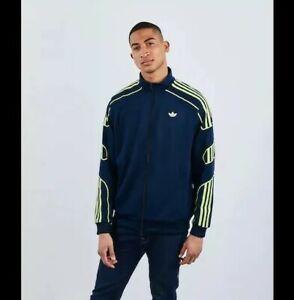 Mens Adidas Originals SPRT Track Top jacket Size: Extra Small XS navy/yellow