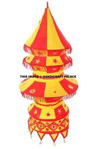 Abat Jour Lampe Tissu Décorative Patchwork Indien Fait Main Hippie Décor