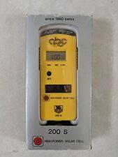 Vintage 80s Tag Heuer 200 S Solar Digital Stopwatch, ABC