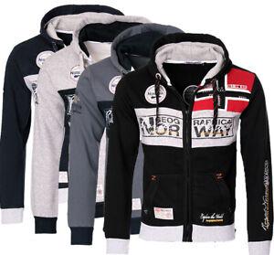 Geographical Norway Herren Sweat Jacke FVSA sweatshirt Hoodie übergangs Winter