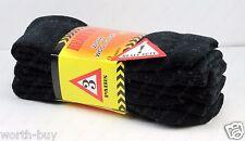New 3 Pairs Mens Heavy Duty Winter Warm Work Wool Socks Crew Size 9-13 Merino