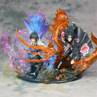 Uchiha Itachi & Uchiha Sasuke Figura Estatua Anime Naruto Toy Collection
