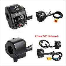 "Multifunction Black Motorcycle 22mm 7/8"" Handlebar Headlight Turn Speaker Switch"