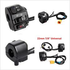 "Multifunction Black Motorcycle 22mm 7/8"" Handlebar Headlight Turn Speaker Switch"