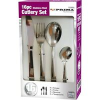 16 Piece Stainless Steel High Quality Cutlery Set In A Colour Gift Box Prima