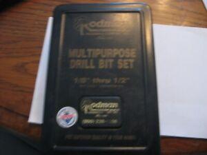 Rodman Carbide multi-purpose Drill Bit Set with case -  some missing