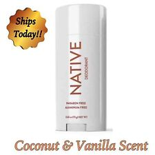 NATIVE Deodorant Coconut & Vanilla Scent Aluminum Free Long Lasting  #1 scent !!