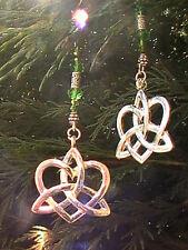 celtic earrings BLESSED  pagan wiccan atlantis symbols magik pure knot heart