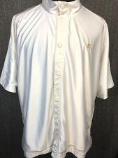 Vintage Starter Button Front White Athletic Shirt Short Sleeve Men's 3XL EUC