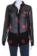 New listing Mara Hoffman Womens Margot Polka Dot Button Up Top Red Black Size Small 13422333