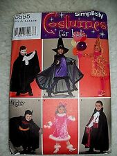 Kids Simplicity Pattern Clown Witch Warlock Vampire Batman UNCUT Child Size A