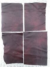 4 Pieces Windsor Cherry leather offcut, craft, patches, repair