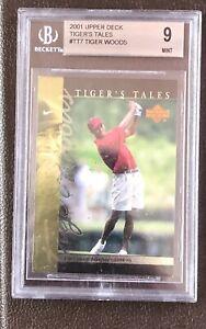 2001 Upper Deck Tiger's Tales #TT7 Tiger Woods Rookie BCCG 9