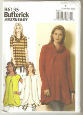 Butterick Sewing Pattern B6135 Miss Easy Pullover Tunic Top Sz 4-14