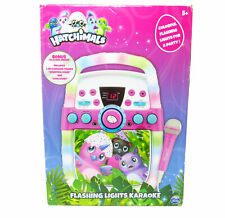 NEW Hatchimals Flashing Lights CD+G Karaoke Player ~ Connects To TV iPad iPhone