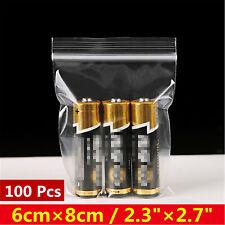 "2.3""×2.7"" 100 Pcs Resealable Clear Plastic Seal Press Zip Lock Bags"