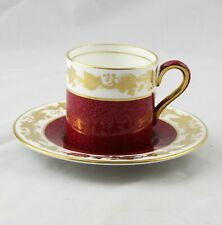 Wedgwood Whitehall Ruby Powder Demitasse Cup & Saucer Multiple Available