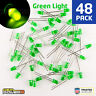 48 X RadioShack 5mm Green Diffused LED #2760022 BULK PACK NEW