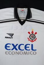 1996-1997 CORINTHIANS HOME UMBRO FOOTBALL SHIRT (SIZE XL)