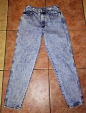 Vtg Chic Women Size 15 Tall Acid Wash Mom Jeans High Waisted Tapered