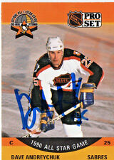 BUFFALO SABRES DAVE ANDREYCHUK AUTOGRAPHED 199O ALL STAR GAME CARD