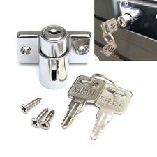 Window Door Bolt Catch Push Lock Aluminum Sliding Patio Sash Security Key Screw