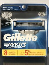 Gillette Mach3 Turbo 8 Cartridges
